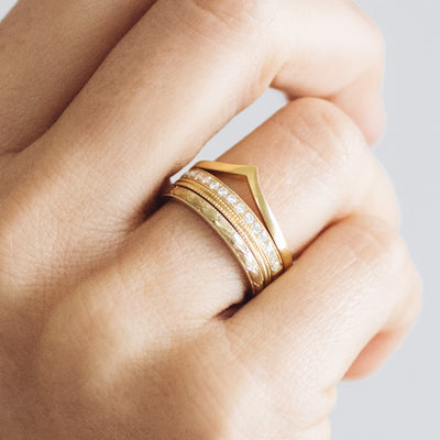Wishbone Crown Ethical Gold Wedding Ring - ethical stacking rings
