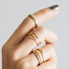 Wishbone Crown Ethical Gold Wedding Ring - ethical stacking rings 3