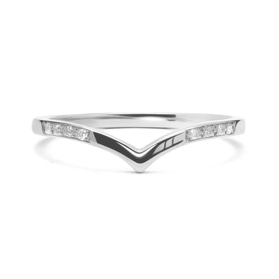 Wishbone Diamond Crown Ethical Ring, 18ct Ethical Gold 5