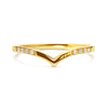 Wishbone Diamond Crown Ethical Ring, 18ct Ethical Gold 3