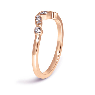 Bespoke Claire engagement ring - Fairtrade rose gold, conflict-free diamonds and unique tailored shape 2