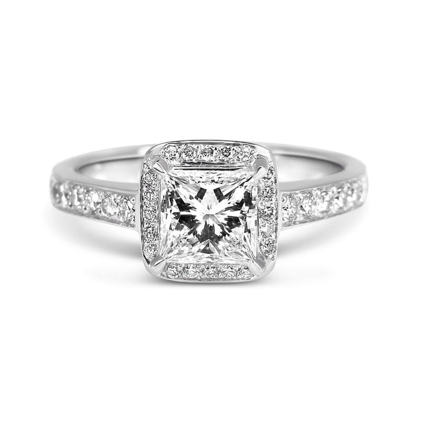 Bespoke Jewellery-Arabel Lebrusan-Amanda platinum engagement ring with diamond 1