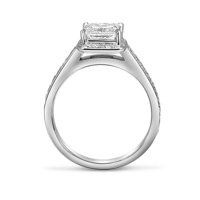Bespoke engagement ring - princess-cut diamond and 100% recycled platinum 2