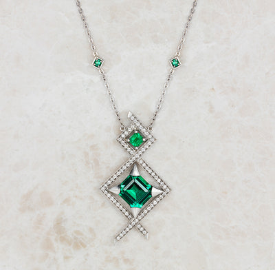 One-of-a-kind emerald pendant by Lebrusan Studio