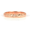 Cedar Engraved Ethical Gold Wedding Ring 3mm