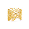 Filigree Double Hearts Ring. Yellow Gold