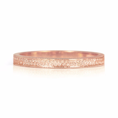 Eternity Engraved Ethical Gold Wedding Ring, 2mm 2