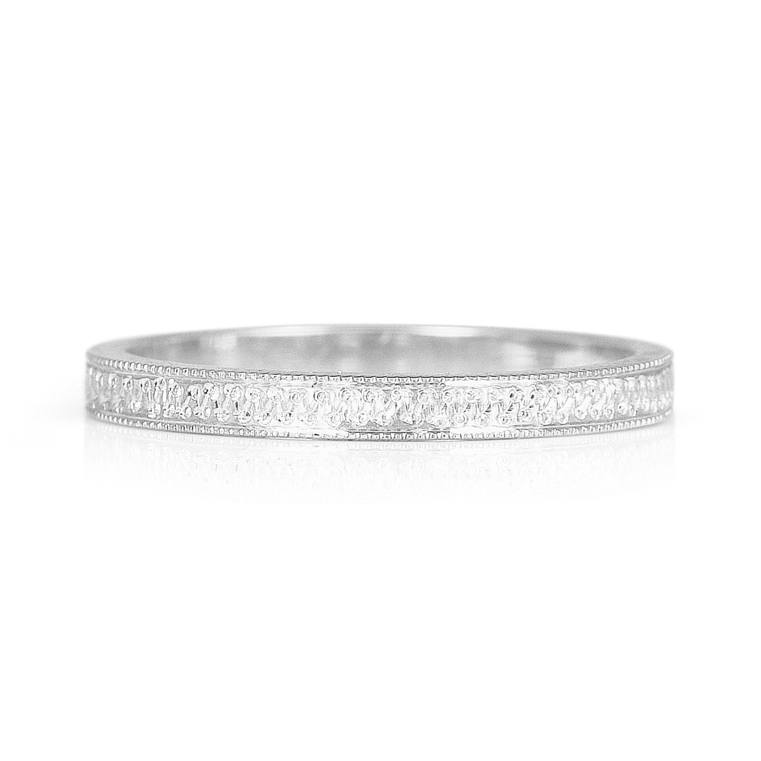 Eternity Engraved Ethical Platinum Wedding Ring
