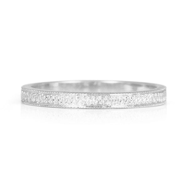 Eternity Engraved Ethical Platinum Wedding Ring 2mm