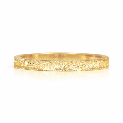 Eternity Engraved Ethical Gold Wedding Ring, 2mm