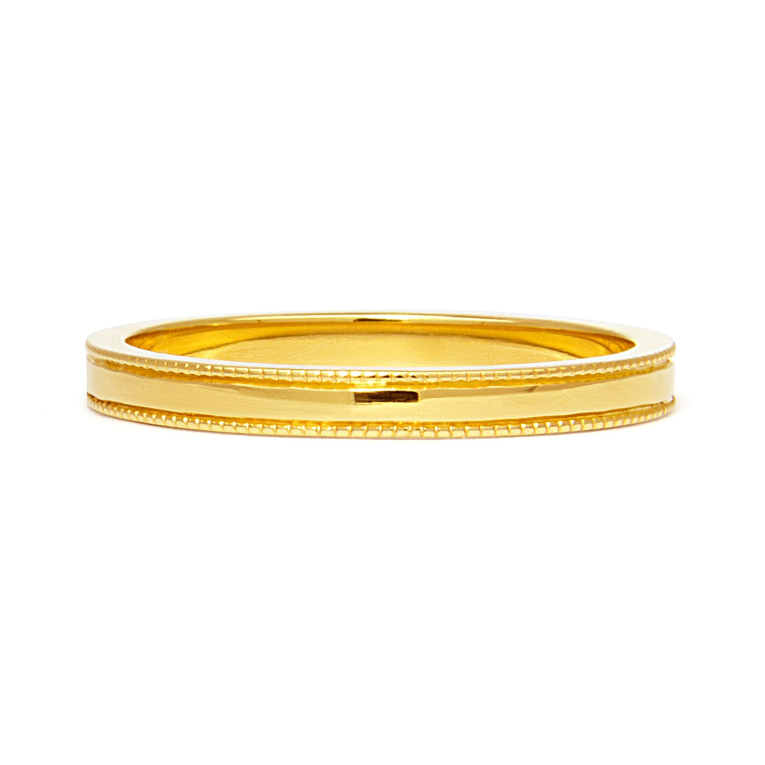 Vintage Milgrain Ethical Gold Wedding Ring, 2mm