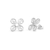Clover Stud Earrings. Silver