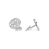Discus Stud Earrings. Silver