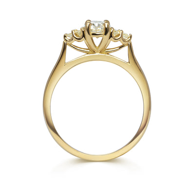 Bespoke Lab-Grown Diamond Engagement Ring, Recycled Yellow Gold 2