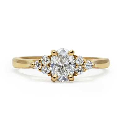 Bespoke Lab-Grown Diamond Engagement Ring, Recycled Yellow Gold