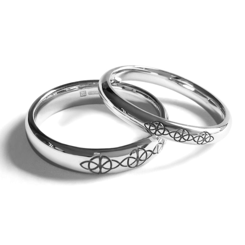Bespoke wedding rings - Fairtrade white gold and unique laser-engravings
