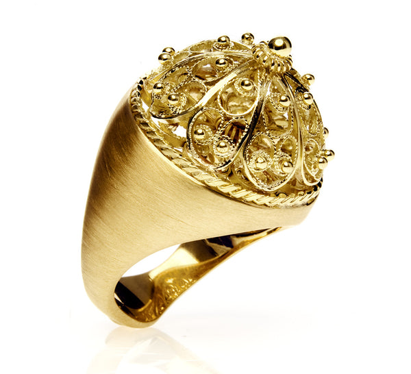 Filigree Bombe Ring
