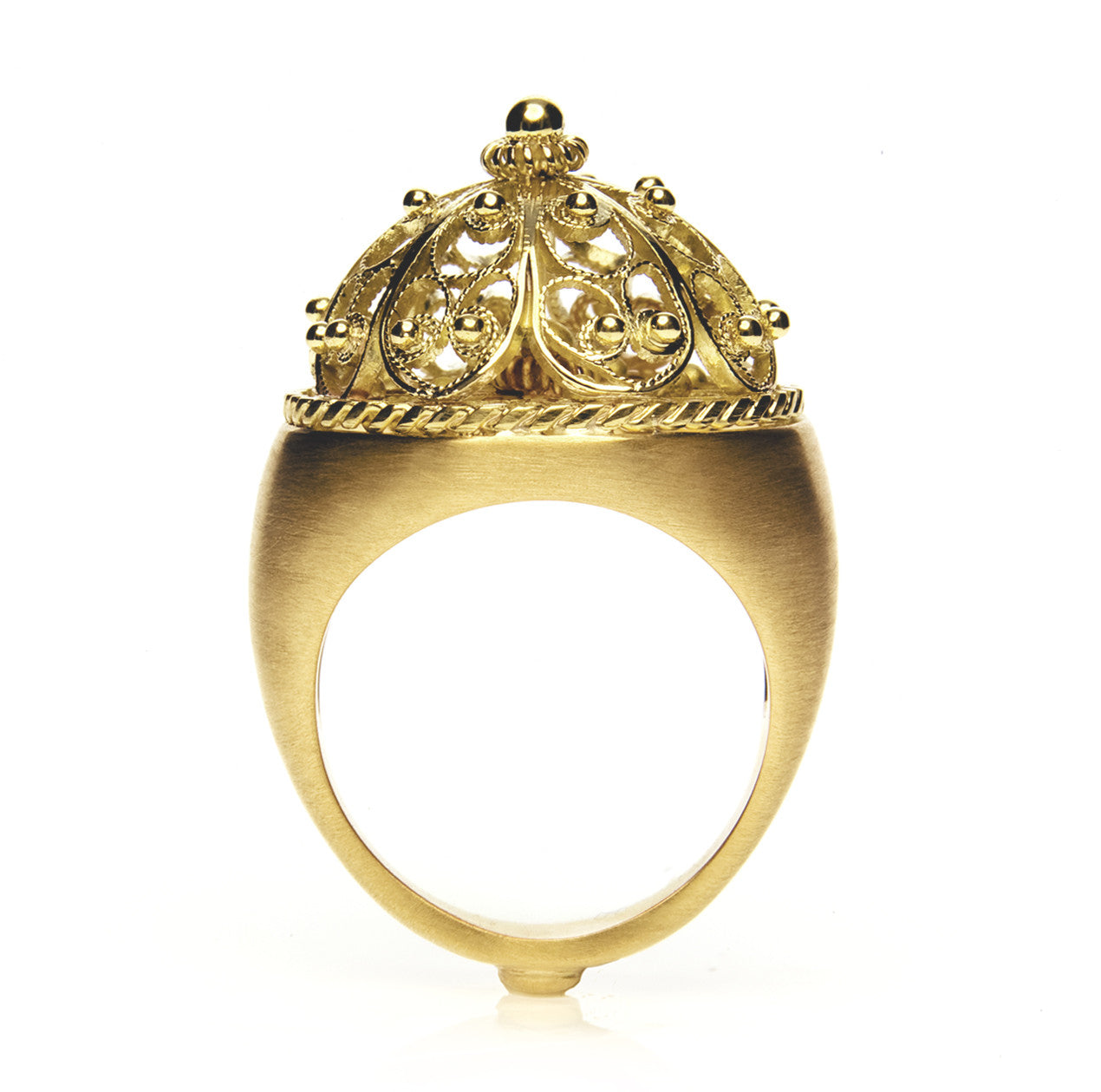 Bespoke Jewellery - Cabuchon filigree Ring flat - Arabel Lebrusan