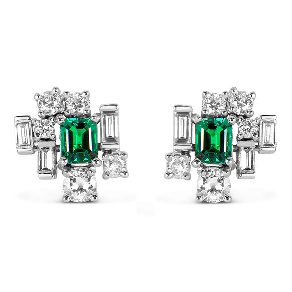 Bespoke Jewellery - Corene Emerald Stud Earrings - Arabel Lebrusan