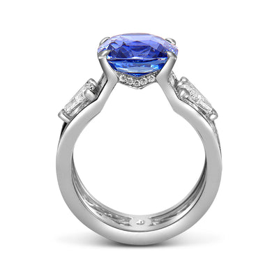 Bespoke Damir engagement ring - 100% recycled platinum, 7ct sapphire, conflict-free diamonds and filigree  2