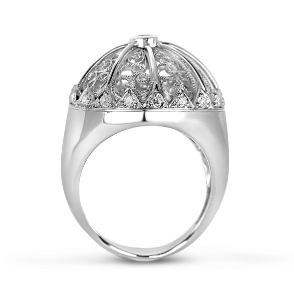 Bespoke Jewellery - Debbie Filigree Diamond White Gold Ring - Arabel Lebrusan