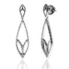 Bespoke Jewellery - Diamond Leaf White Gold Drop Earrings - Arabel Lebrusan
