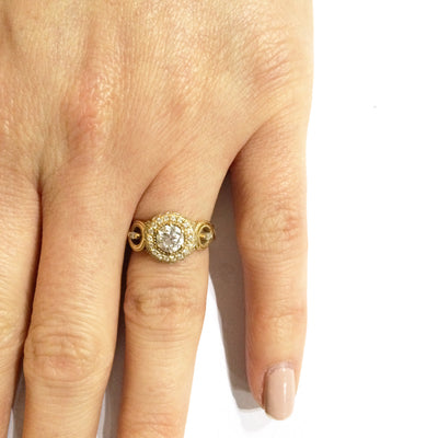 Bespoke Laura engagement ring - Canadian diamonds, Fairtrade Gold and milgrain beading 4