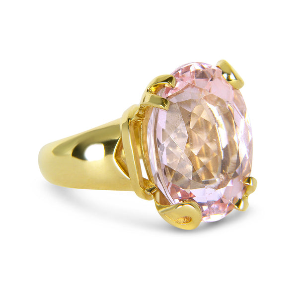 Bespoke Jewellery - Morhanite 18ct gold ring side - Arabel Lebrusan