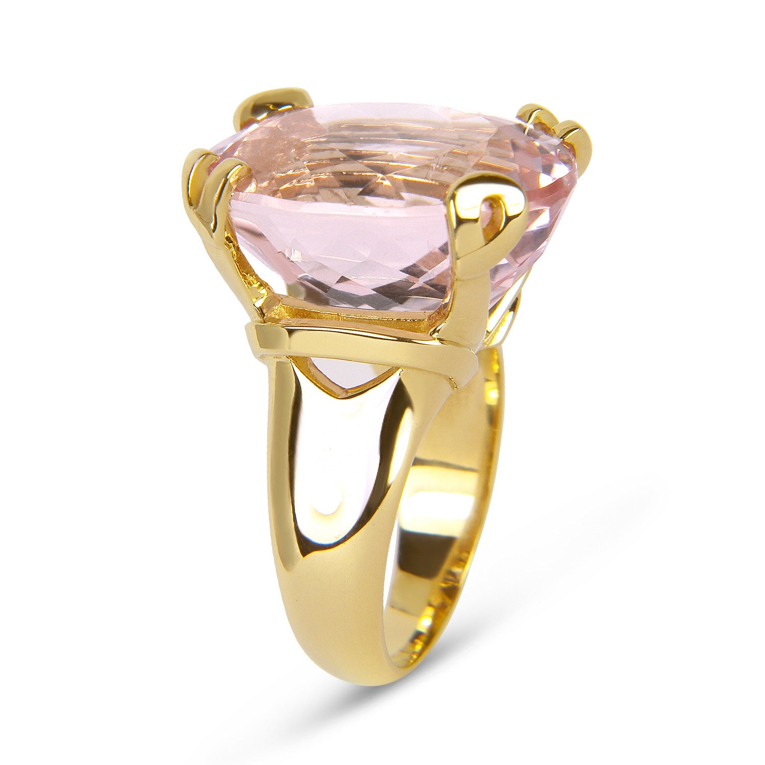 Bespoke Jewellery - Morhanite 18ct gold ring top - Arabel Lebrusan