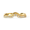 Bespoke Roberta shaped wedding band - 18ct yellow recycled gold and conflict-free diamonds
