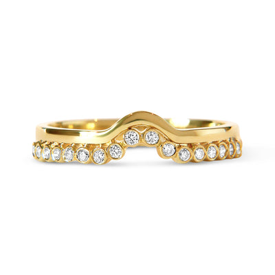 Bespoke Jewellery - Roberta Diamond Gold Wedding Ring front - Arabel Lebrusan