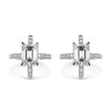 Bespoke Shairose earrings - 18ct white gold and client's own emerald-cut diamonds