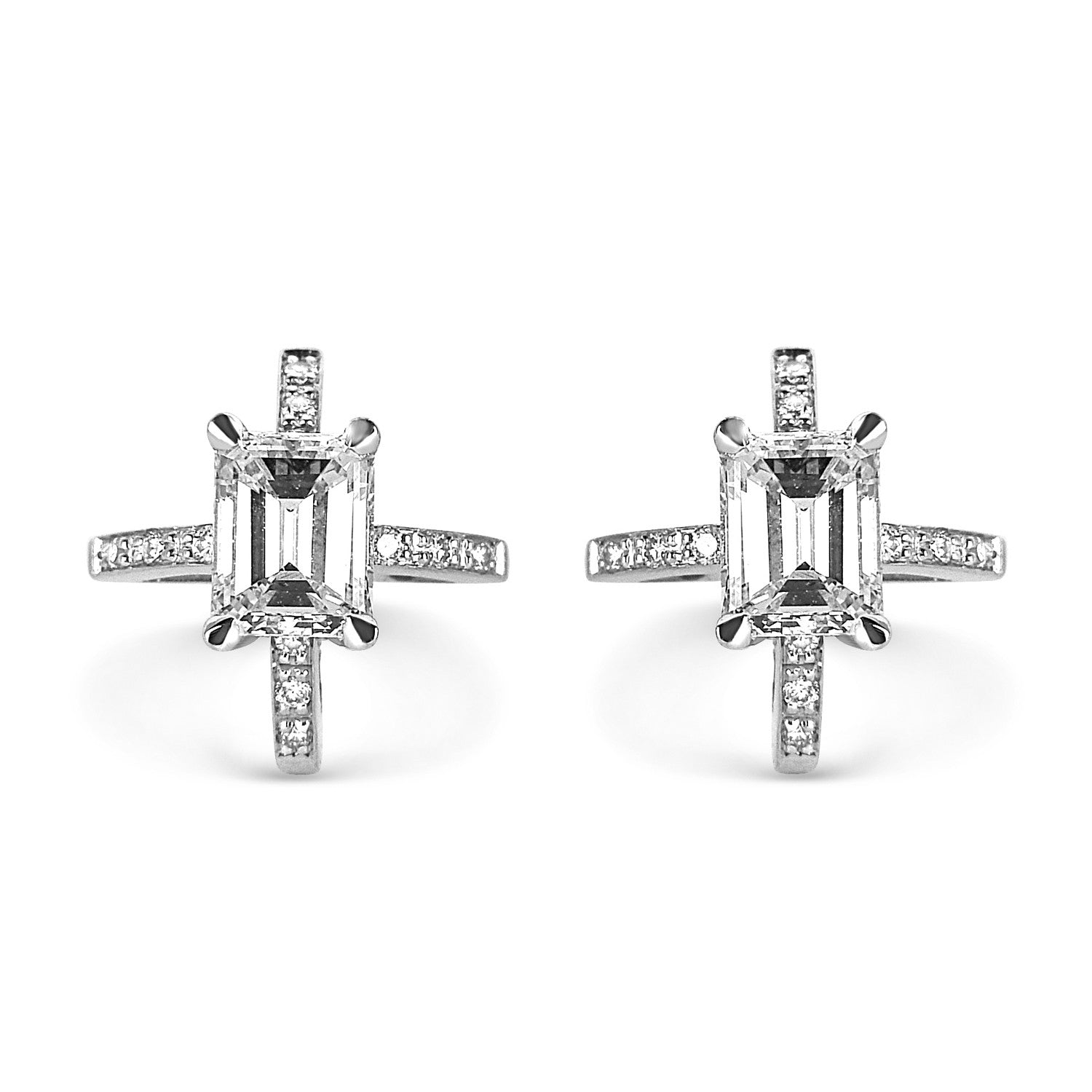 Bespoke Jewellery - Shairose Diamond Earrings v2 - Arabel Lebrusan