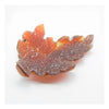 Carnelian with Quartz Crystals, Maple Leaf