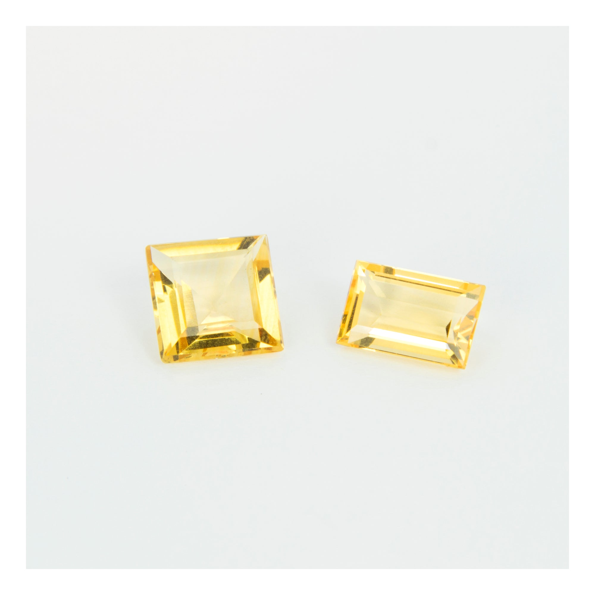 Yellow Citrine, Square & Rectangular Cut