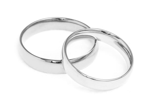 Court Ethical Platinum Wedding Ring 4mm - Arabel Lebrusan