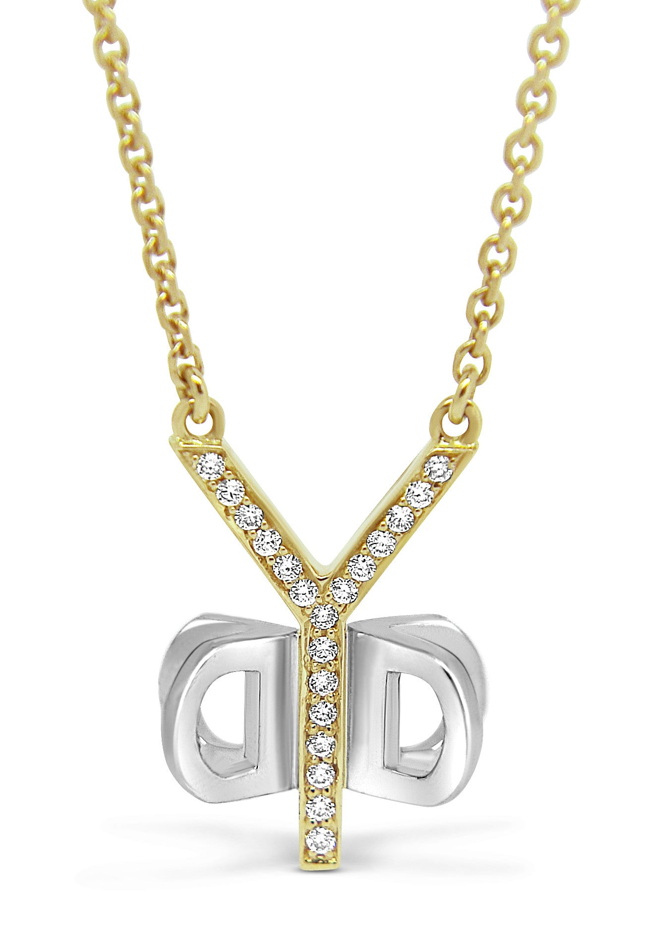 Bespoke Pamela pendant - 18ct white and rose gold and 2ct of conflict-free diamonds