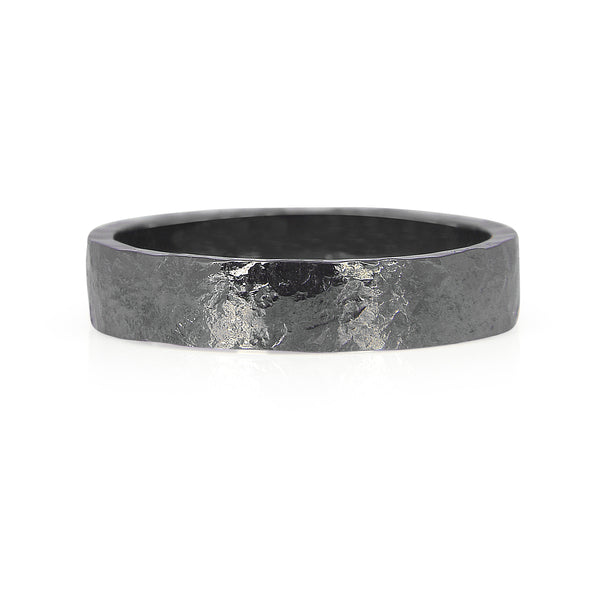 Heavy Hammered Ethical Gold Wedding Ring, 4.5mm