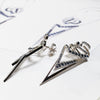 Bespoke Arrow Sapphire Earrings - 18ct white gold, ethical blue sapphires and dismountable structure 2