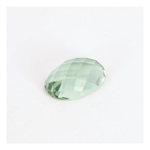 Green Quartz, faceted cabuchon