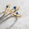 Hestia Ethical Blue Sapphire Gemstone Engagement Ring, 18ct Ethical Gold