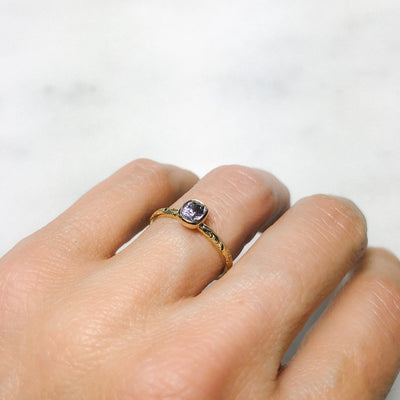 Candy Pop Mauve Spinel Engagement Ring, 18ct Ethical Gold 3