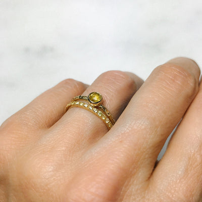 Candy Pop Yellow Sapphire Engagement Ring, 18ct Ethical Gold 3