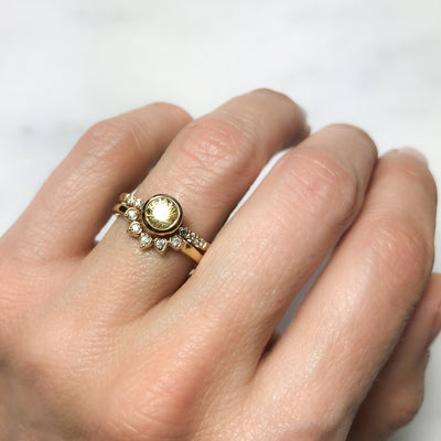 Large Hebe Yellow Sapphire Engagement Ring, Ethical Gold 2