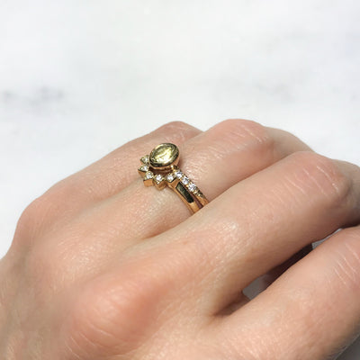 Large Hebe Yellow Sapphire Engagement Ring, Ethical Gold 3