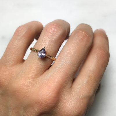 Fancy Athena Mauve Sapphire Ethical Engagement Ring