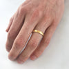 Court Soft Hammered Matt Ethical Yellow Gold Wedding Ring, Medium