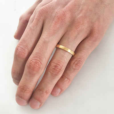 Flat Court Ethical Yellow Gold Wedding Ring, Thin 9