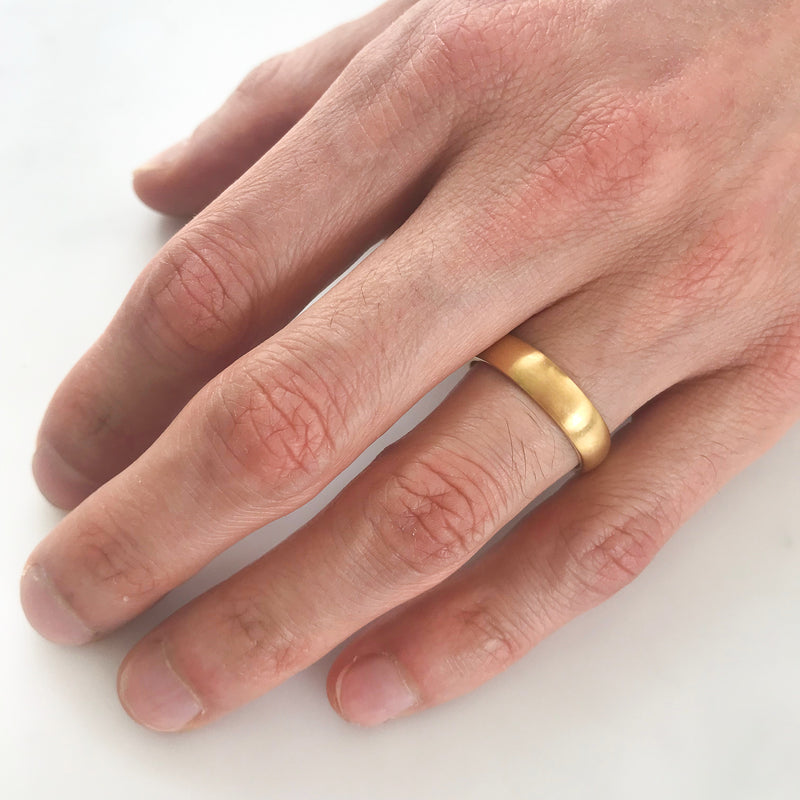 Court Ethical Gold Wedding Ring, Wide