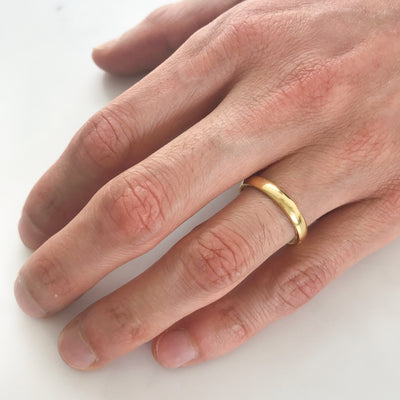 Court Ethical Gold Wedding Ring, Thin 3